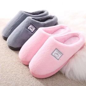韩版冬季男士女生保暖防滑棉托鞋