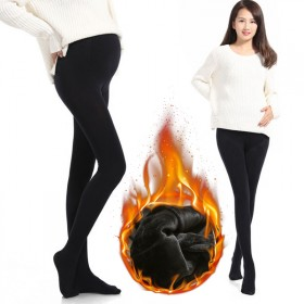 孕妇丝袜加绒打底裤踩脚孕妇长裤保暖薄绒连裤袜