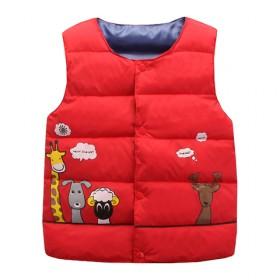 儿童卡通棉服马甲坎肩中小童轻薄背心婴儿内胆男女童保