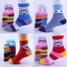 5双装 秋冬季儿童保暖袜子宝宝袜子中大童男女童保暖