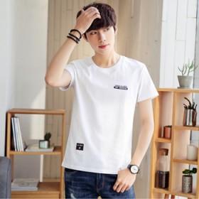 短袖t恤男新款韩版潮流修身休闲半袖青少年体恤