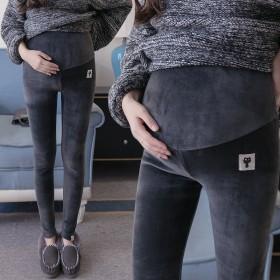 大码冬季孕妇裤 怀孕期 秋冬外穿孕妇裤 加绒加厚
