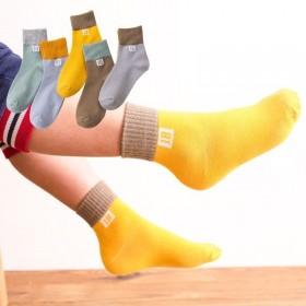 5双装 儿童袜子秋冬男童女童中筒袜宝宝男孩中大童学