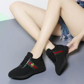 黑色加绒运动鞋女冬秋季新款跑步鞋透气女鞋子韩版平底
