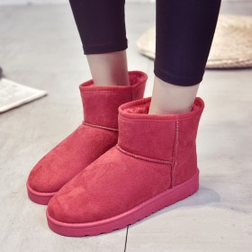2018雪地靴女冬季防滑短靴女加厚保暖学生棉鞋加r