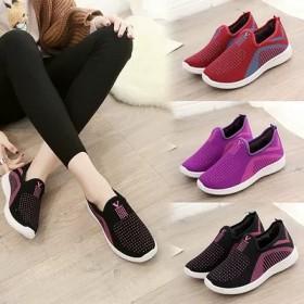 运动鞋女软底健步鞋一脚蹬老北京布鞋加绒