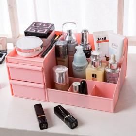 桌面化妆品收纳盒大号护肤品面膜女生宿舍整理盒置物架