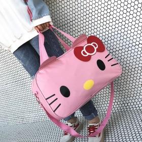韩版旅行包防水大容量可爱卡通行李袋女手提短途旅游包
