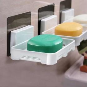 2个装免打孔双层三层香皂盒子卫生间置物架沥水架肥皂
