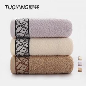 三条装三色纯棉洗脸毛巾加大加厚居家必备