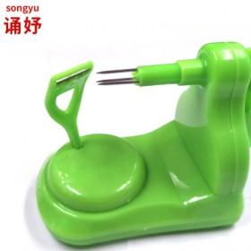 削苹果神器多功能不锈钢削皮刀削苹果机手摇水果削皮