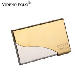 Polo商务创意半开高级名片夹男女士名片盒免费刻字