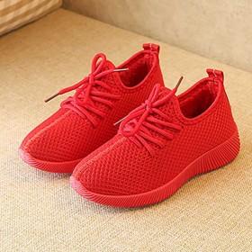 中大童小红小黑鞋加绒棉鞋休闲系带