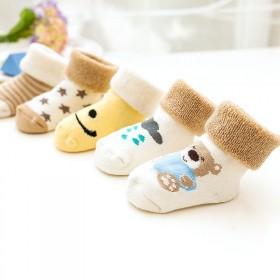 【5双装】婴儿袜子秋冬款加厚儿童全棉0-1-3岁6
