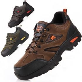 四季款户外登山鞋加绒男士运动鞋防滑登山鞋