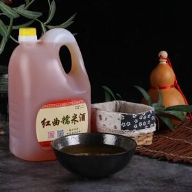 干型黄酒无糖5斤桶装米酒农家自酿原浆纯粮红曲糯米酒