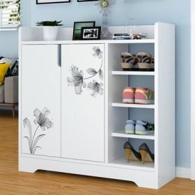 新款经济简易鞋柜简约现代门厅柜家用鞋柜仿实木色门口