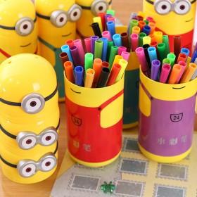 创意儿童彩笔套装12色卡通水彩笔画笔用品涂鸦文具
