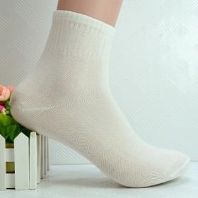 秋冬季纯色 男士独立包装棉袜 中筒袜