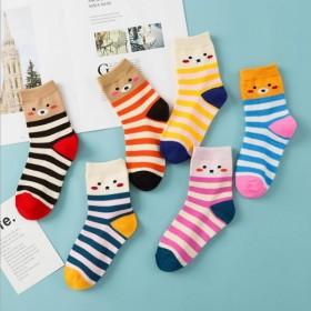 【5双装,】秋冬款童袜宝宝厚款袜子卡通袜保暖男女