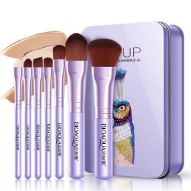 化妆刷八件铁盒套装 眼影刷化妆工具套刷唇粉底彩妆刷
