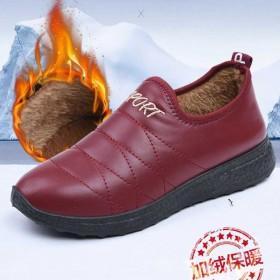 老北京布鞋冬季保暖棉鞋女士防水加绒短靴防滑加厚平底