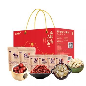 山鲜郎 年货大礼盒 干菌山珍礼包 春节过年献礼 食