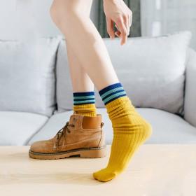 3双袜子女中筒袜韩版堆堆袜春秋潮袜日系百搭韩范中长