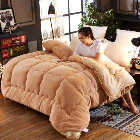 A版法兰绒B版羊羔绒被子7斤6斤冬被加厚棉被被芯