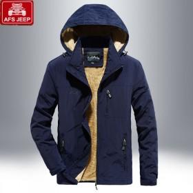 战地吉普加绒加厚外套夹克冲锋衣