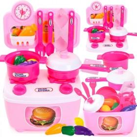 儿童过家家仿真厨房玩具煮饭做饭厨具可出水带灯光声效