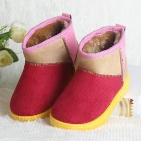 儿童雪地靴2018新款冬季棉鞋保暖男女童短靴鞋