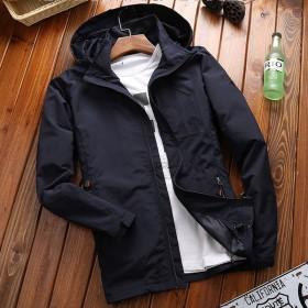 新款男装夹克衫大码户外青年运动服春季休闲中长款外套