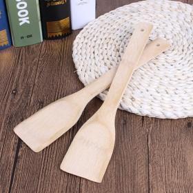 旺存烹饪铲竹制厨房专用不粘锅方形竹铲厨房用品不伤锅