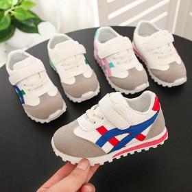 2018秋季新款童鞋时尚防滑女童运动鞋透气超纤男童