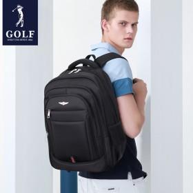 大容量多功能男士双肩包多层拉链青年学生书包品牌背包