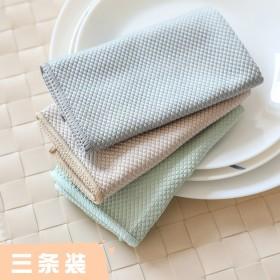 擦玻璃毛巾抹布吸水不掉毛擦玻璃鱼鳞布厨房擦桌抹布