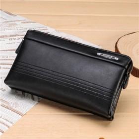 男士手包真皮商务牛皮手拿包大容量男包拉链软皮钱包