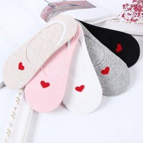 【5双装】百变袜子女士简约短袜低帮隐形袜子硅胶防滑