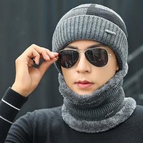 帽子冬季针织加厚韩版毛线套头护耳帽加绒保暖冬天青年
