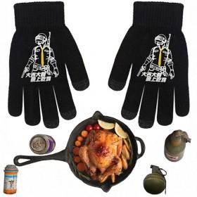 大吉大利晚上吃鸡手套吃鸡游戏图案手袜五指保暖触屏手