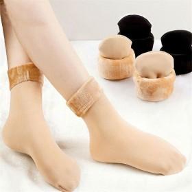 【加绒加厚】【2双装】袜子女中筒袜保暖袜地板袜冬季