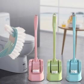 卫生间洁厕刷厕所长柄塑料马桶刷套装清洁刷