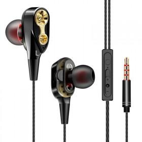 双动圈重低音炫酷耳机线K歌运动耳塞电脑耳麦oppo