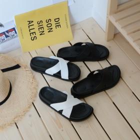 外穿拖鞋女夏厚底学生韩版ins原宿沙滩时尚凉拖鞋