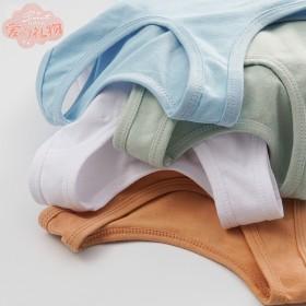 儿童纯棉背心男童女童夏季装纯色背心春秋打底衫