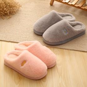 棉拖鞋女冬季居家包跟加厚保暖防滑家居男士棉拖鞋月子