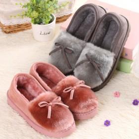 女士冬季棉鞋棉家居鞋保暖毛毛鞋冬包跟月子棉拖鞋室内