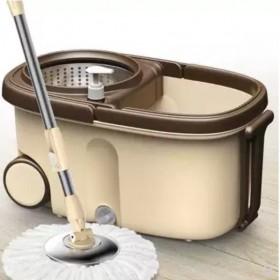 带轮免手洗双驱动旋转拖把桶拖布