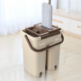抖音同款免手洗刮刮平板拖把桶拖布旋转拖把送布包邮
